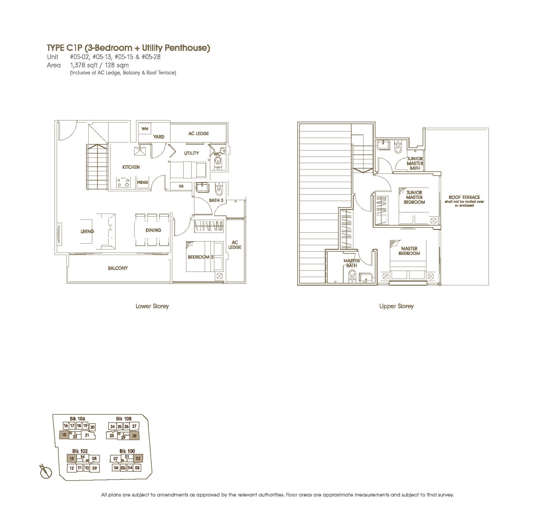 Foresta Floor Plan Penthouse 3 Bed U The Foresta